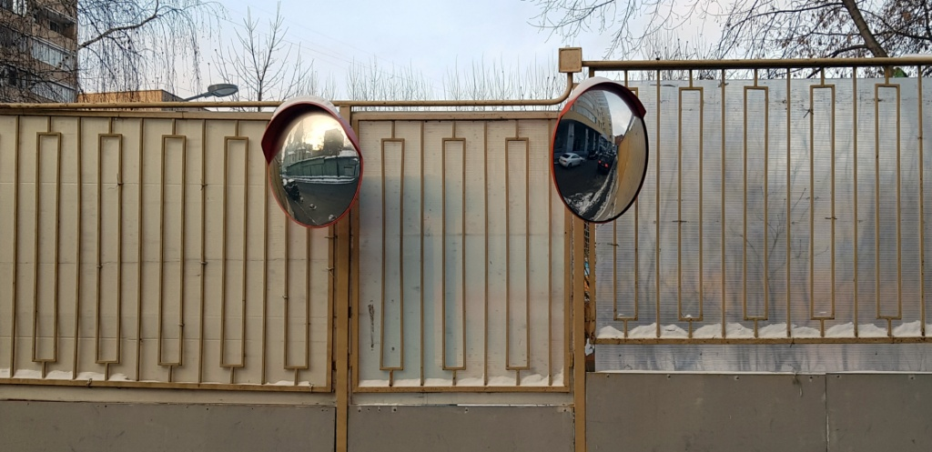 Зеркала сферические уличные